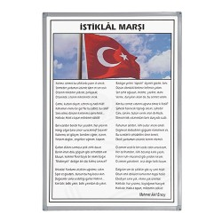 Vivekka 35X50 Alüminyum Çerçeve İstiklal Marşı