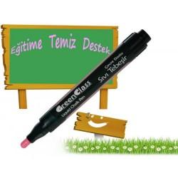 Green Class Sıvı Tebeşir Kalemi Kırmızı - 2 Adet