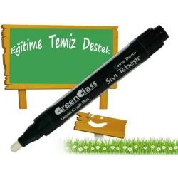 Green Class Sıvı Tebeşir Kalemi Beyaz  - 2 Adet