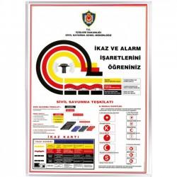 Vivekka 50X70 Alüminyum Çerçeve İkaz Ve Alarm İşaretleri