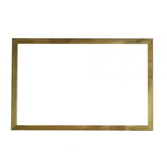 Vivekka 50X70 Duvara Monte  Ahşap Çerçeve Laminat Beyaz  Yazı Tahtası