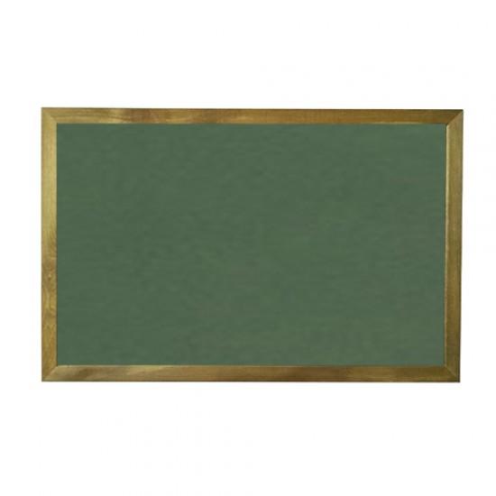 Vivekka 60x90 Duvara Monte Ahşap Çerçeve Laminat Yeşil Yazı Tahtası