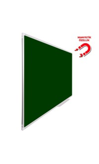 Vivekka 100X180 Duvara Monte Alüminyum Çerçeve Manyetik Yeşil Tahta
